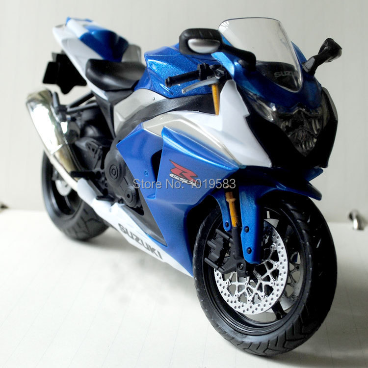 Free Shipping 1/12 Scale Diecast Motorcycle Model Toys Blue SUZUKI GSX-R1000 Metal Motorbike Model Toy For Collection/Gift(China (Mainland))