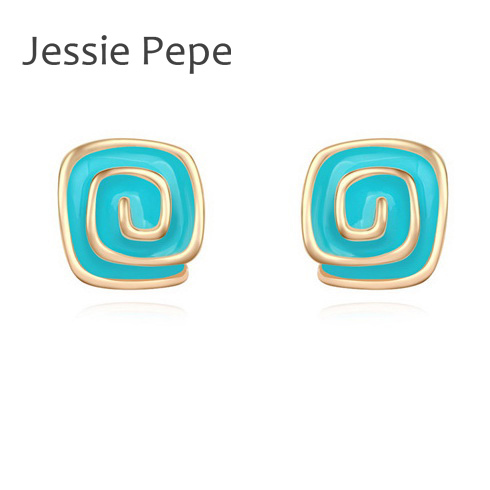 Jessie Pepe Brand La Vie En Rose Zirconia Earrings Brincos in 4 Colours To Choose Lowest Price Best Quality /#JP106162(China (Mainland))