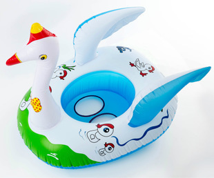 Baby Seat Ring Baby Swimming Laps Cartoon Animal Swan / Deer Baby Boat Inflatable Boat Children Kid Swim Ring for Girl Boy(BP71)(China (Mainland))