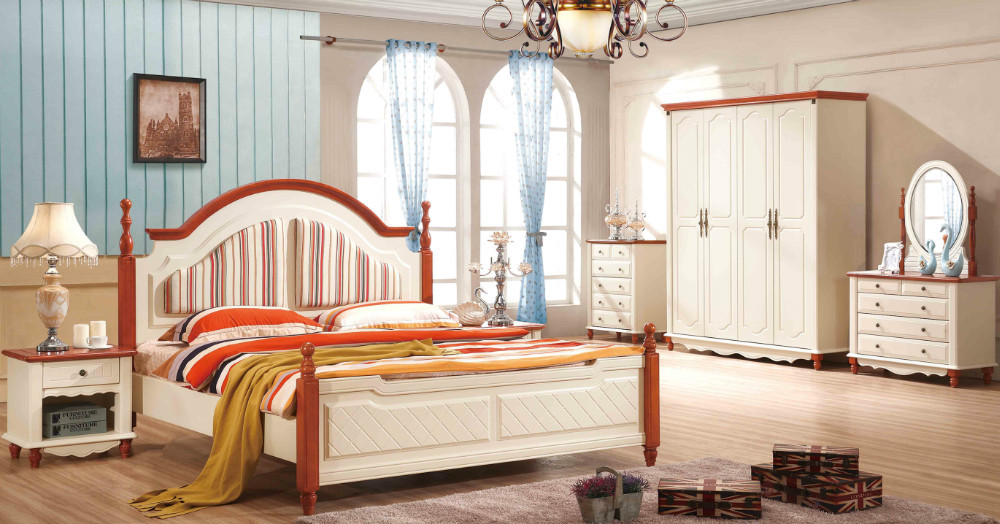 1 bed 2 bedside dresser mirror mattress white packaging for Mediterranean style bedroom furniture