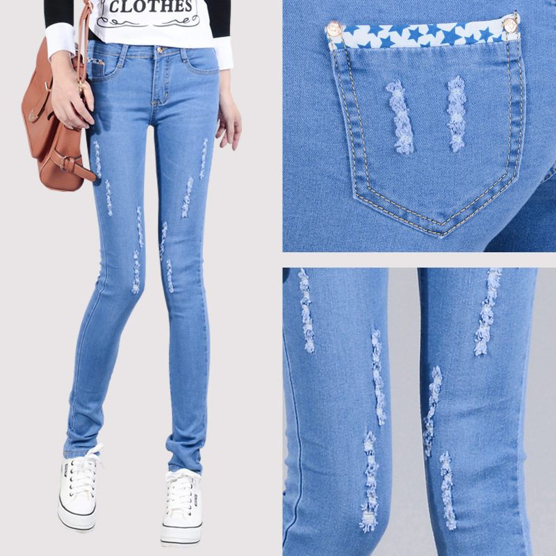 Innovative Women Pants Korean OL Large Size Casual High Waist Elastic Feet Pants