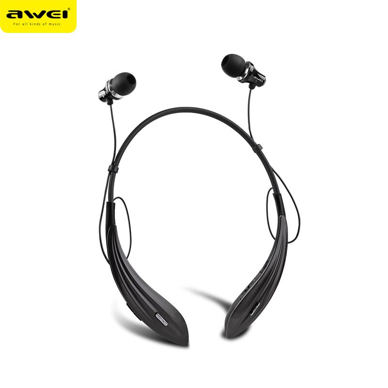 AWEI A810BL Wireless Headphones Bluetooth Earphones Auriculares Super Bass Neckband Headset Audifonos Fone de ouvido kulakl k
