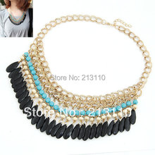 Fashion Korean Ocean Style handmade Chocker Clothes Necklace Beads Collar Necklace Fashion Women Accessories Wholesale(China (Mainland))