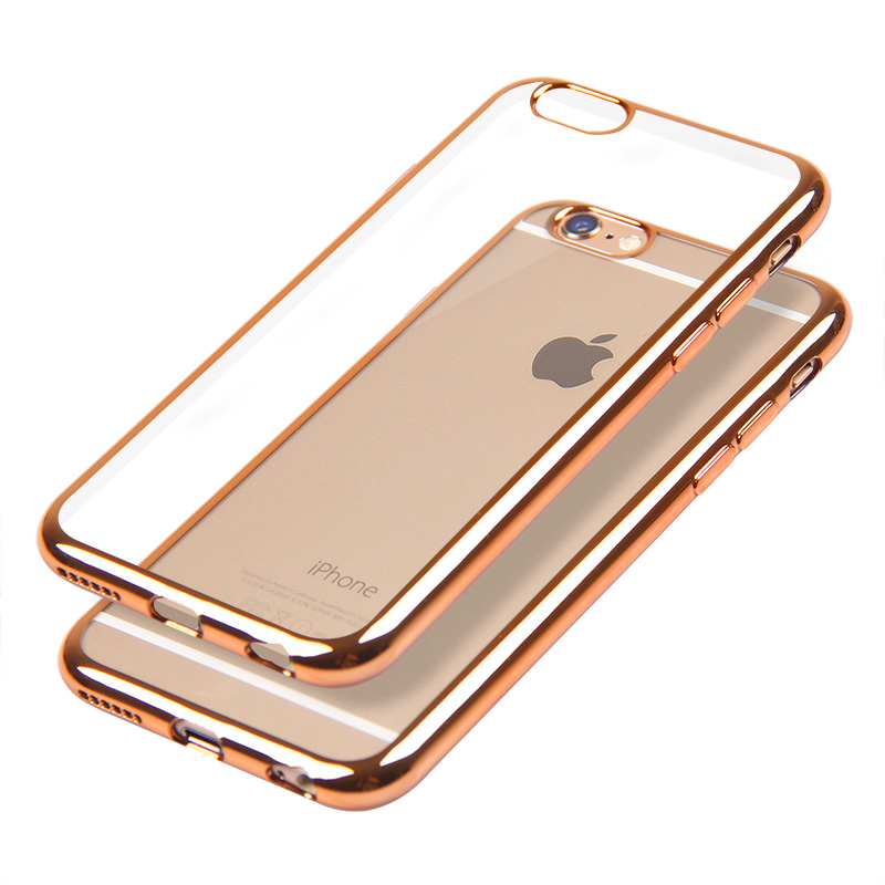 New 5s ultra thin Plating Crystal Clear TPU Case for iphone 5S se 5 Transparent soft rubber Phone Covers shock proof TPU case(China (Mainland))
