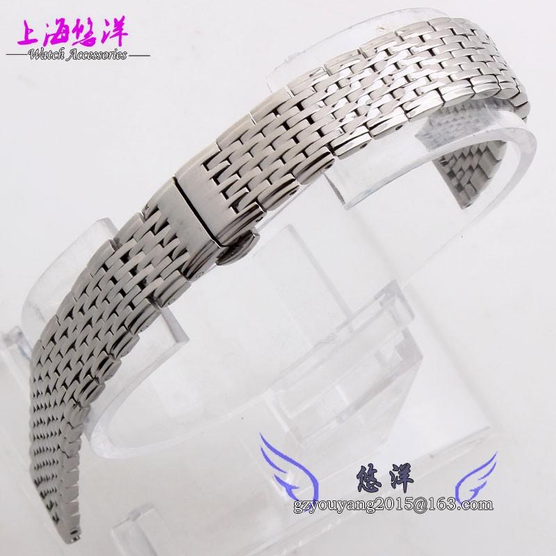 Часы группы 13 мм 18 мм серебристого металла ремешок для часов ремешок браслеты двойной нажмите развертывания часы пряжка