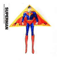 free shipping high quality superman kite 20pcs/lot with handle line outdoor flying toy nylon ripstop children kite cheap octopus(China (Mainland))