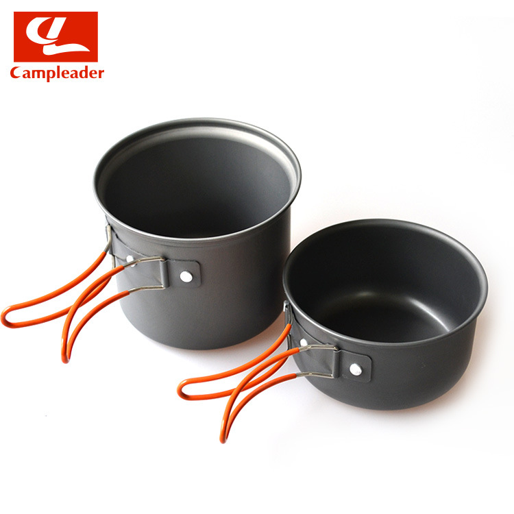 """2016 Campleader M112""""Non-stick Pots Pans Bowls Portable Outdoor Camping Hiking Cooking Set Cookware free shipping(China (Mainland))"""