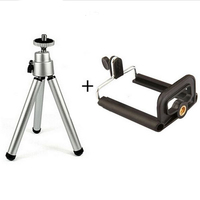 Mini Stand Tripod Mount with Phone Holder For Gopro Camera Digital Camera Self-Timer Smartphones For iphone Samsung