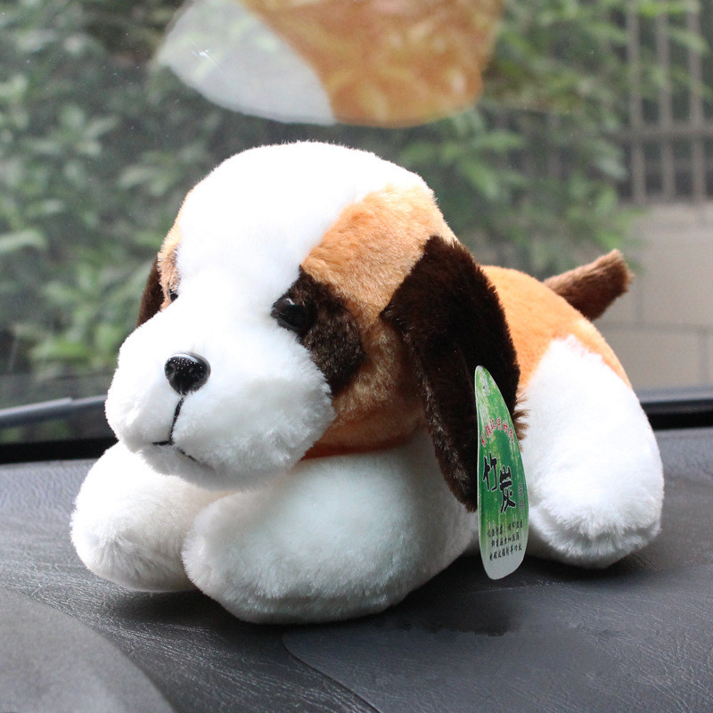 2016 New style hot selling Plush toy dog lying The car bamboo doll dog air purification Remove odor Cute cartoon(China (Mainland))