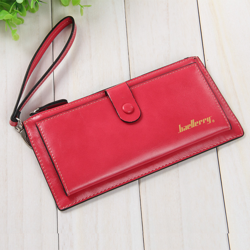 Ladies Wallets Leather Purses Long Wallet 2016 New Women Elegant Female Red Coin Card Bags With Hand Strap,ZX-N08-2(China (Mainland))