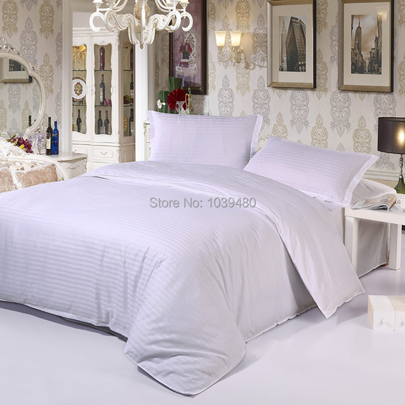 New 100% cotton satin stripe plain solid color hotel 4pcs bedding sets bed linen bed sheet queen size 17 colors for choose(China (Mainland))