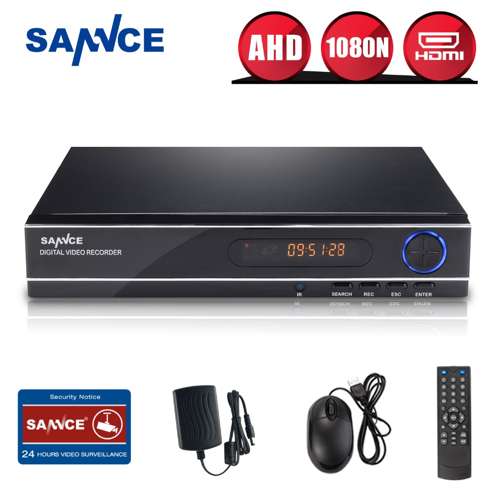 SANNCE 8 Channel 720P 1080N H.264 Video Recorder HDMI Network CCTV DVR 8CH for Home Security Camera Surveillance System Kit(China (Mainland))