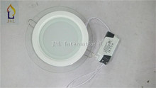 Free shipping 20pcs/lot  6W glass round ceiling light  White LED light SMD5730 12led/PCS, 85-265W led ceiling light 20pcs/lot(China (Mainland))
