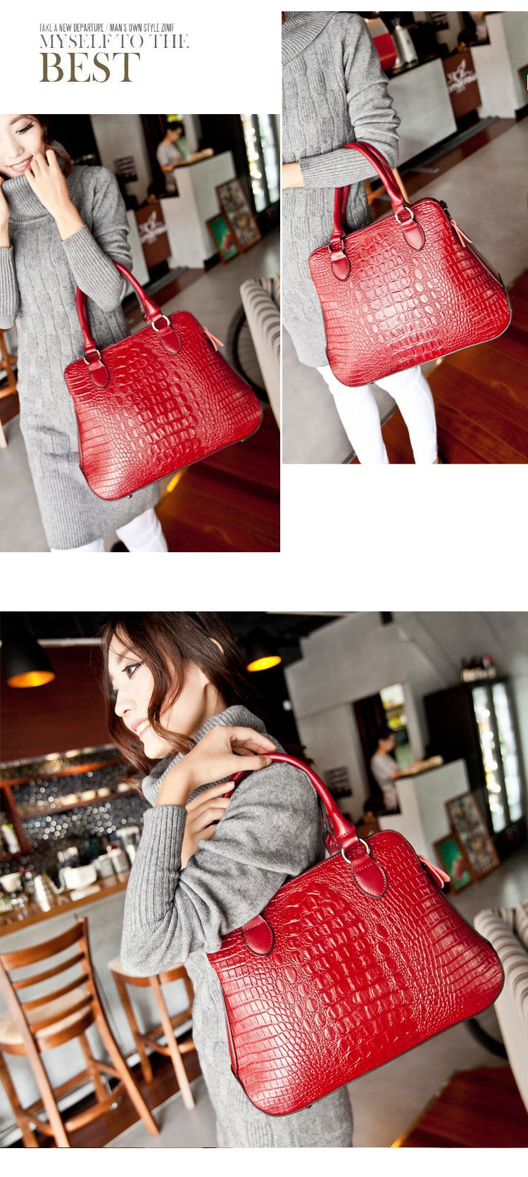Women Single Shoulder Bags Genuine Leather Vintage In Stock Fast Free