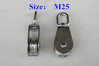 304 stainless steel pulley factory direct supply wire Rope pulley M25 Single pulley Fixed pulley Hanging round Traction sheave<br><br>Aliexpress