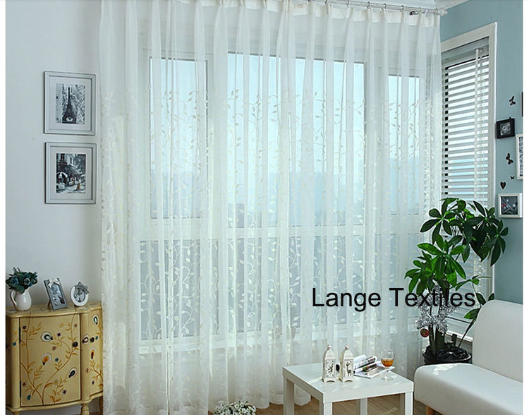 freies schiff wei besticktem t ll vorh nge ikea f r fenster wohnzimmer voile transparent luxus. Black Bedroom Furniture Sets. Home Design Ideas