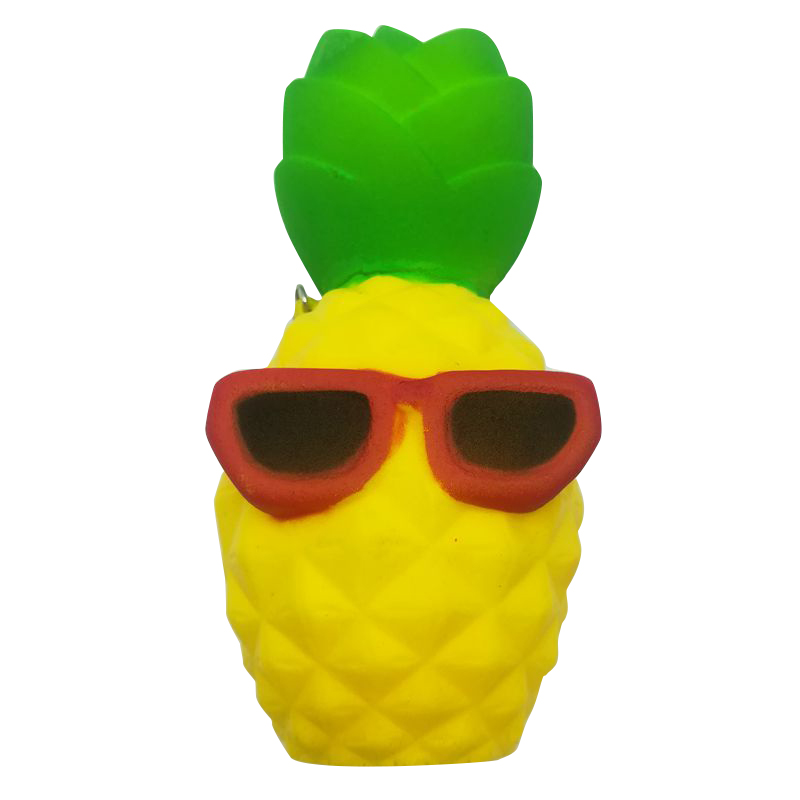 1 x Cool Pineapple Phone Straps Rising Bun Slow Squeeze Squishy Toys Charms Soft Bread Chain Mini Phone Straps Kids Toy Gift P25(China (Mainland))