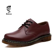 Top quality Dr. martin men boots vintage style men shoes fashion ankle boots famous shoes women  genuine leather boots