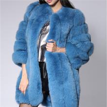 fur talk luxury russian fur coats women natural winter fox fur coat(China (Mainland))