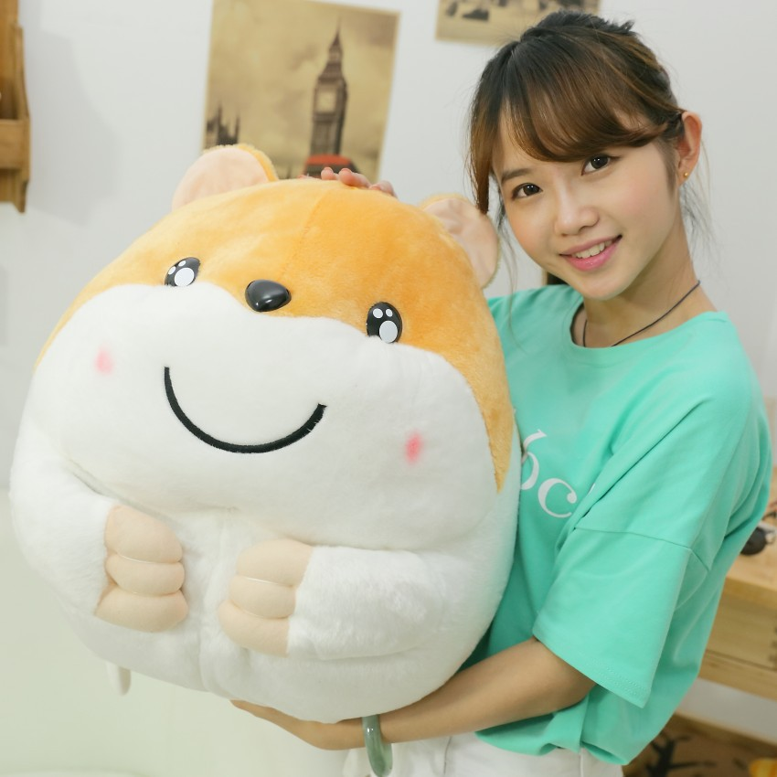 big plush hamster toy stuffed fat lovely yellow hamster doll gift toy about 50cm<br><br>Aliexpress