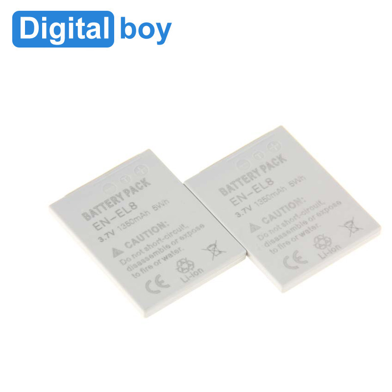 20 Pcs EN-EL8 EN EL 8 ENEL8 recargable battery For Nikon Coolpix P1/P2/S1/S2/S3/S5/S50/S50c/S51/S51/S52 Digital boy(China (Mainland))
