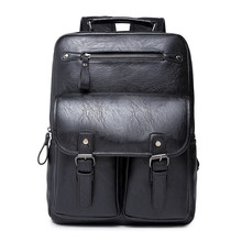 Brand PU Leather Men Backpack High Quality Laptop Backpacks Outdoor Sports Men Travel Bag Duffel Bag Tactical Backpack Y04(China (Mainland))