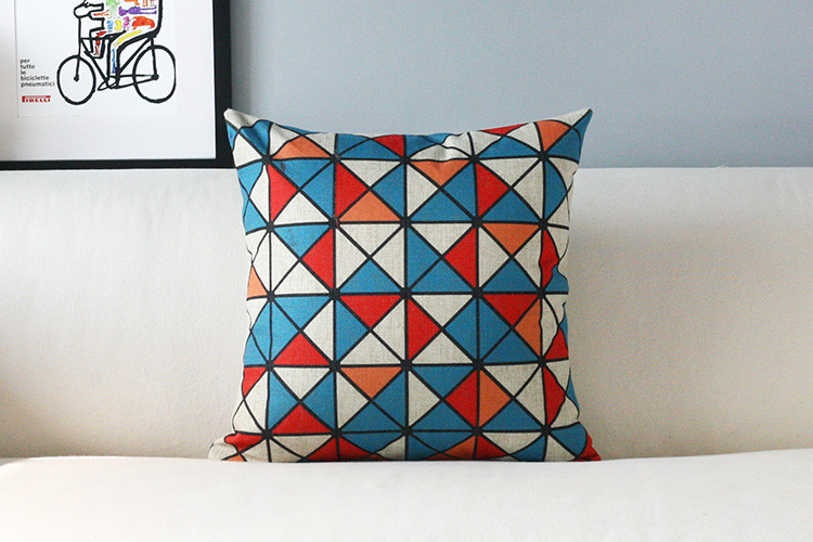 Modern Color Triangle pillow Abstract geometric Pillow cushion pillowcase sofa cushion home decorative Pillows