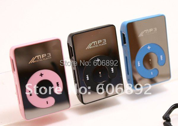 new design mirror surface 10pcs/lot support 1-8GB TF card mini mp3,mp3 player drop shipping  with retail packing