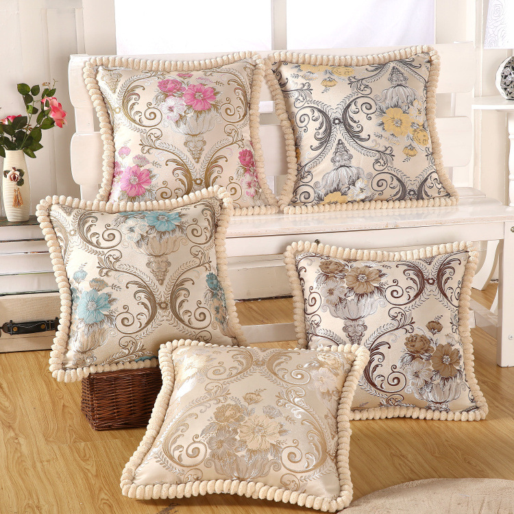 Luxury embroidery cushion home decor pillow pillowcase sofa throw pillows decorate capa de almofada
