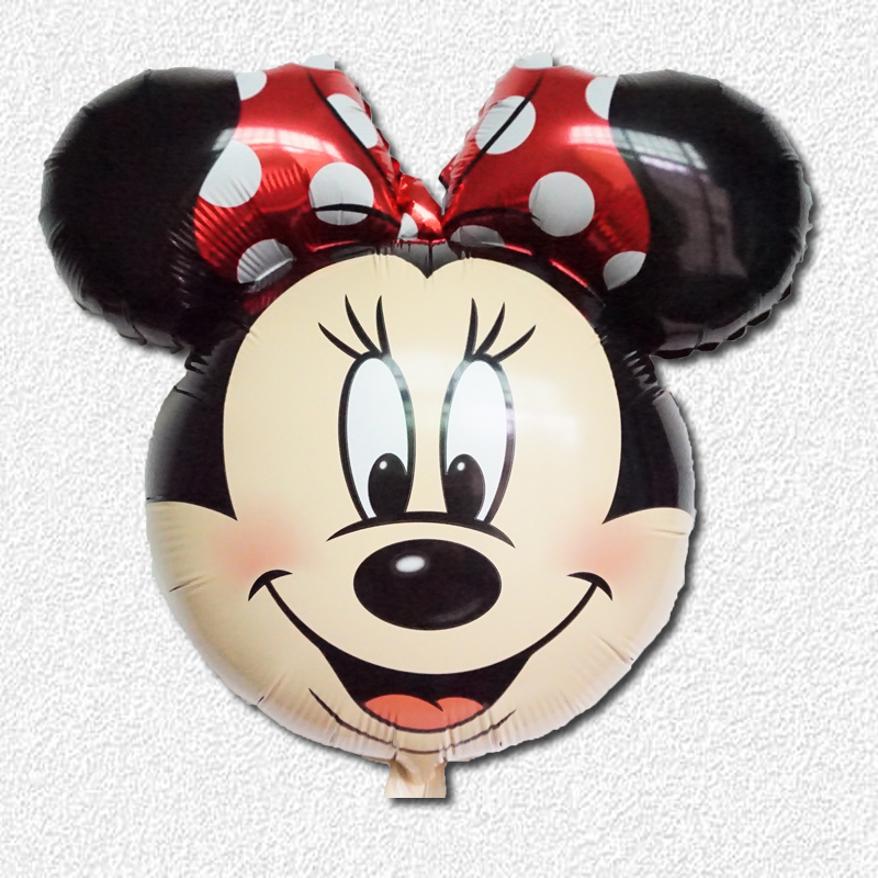 5pcs/lot Mickey Minnie mouse balloons Minnie mouse Mickey mouse hand stick foil helium globos ballons(China (Mainland))