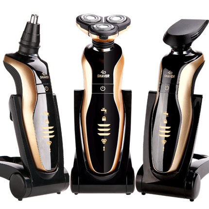 MEN electric shaver electric razor hair shaving machine 3D floating Rotary beard trimmer nose trimmer electric shavers for men(China (Mainland))
