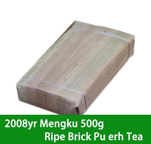 New Arrival MIKE 2008yr ripe Pu er cooked tea big mengku 500g brick puerh tea(China (Mainland))