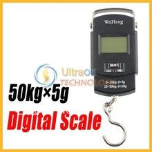 A estrenar 50 kg x 5 g Portable LCD Digital de bolsillo entrega escala de peso negro nuevo envío gratis