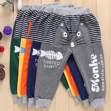 2014 New Children's clothing spring & autumn male trousers plus velvet child trousers child trousers thickening sports casual(China (Mainland))
