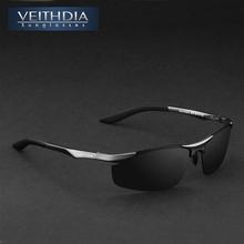 Veithdia de aluminio de la marca gafas de sol polarizadas hombres deportes gafas de sol de conducción espejo gafas gafas accesorios para hombre 6529