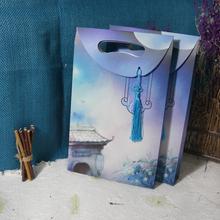 Craft paper gift bag Birthday wedding celebration souvenir bag Business present festival exhibition sales promotion bag(China (Mainland))
