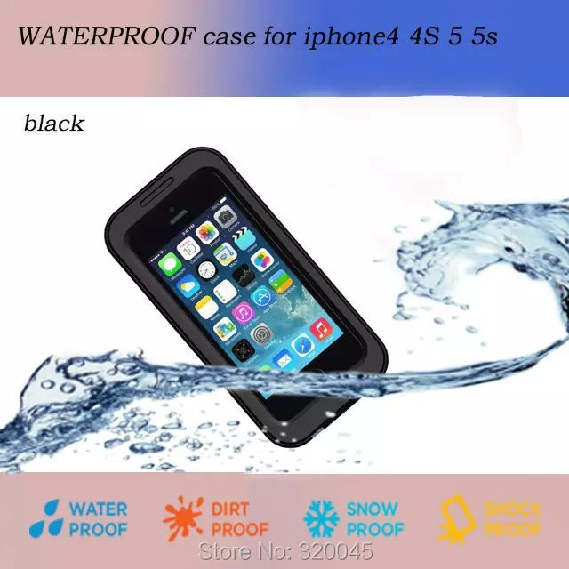 Universal waterproof case for iphone4s swimming pouch for iphone 4S back cover shock dirt proof protetive shell(China (Mainland))
