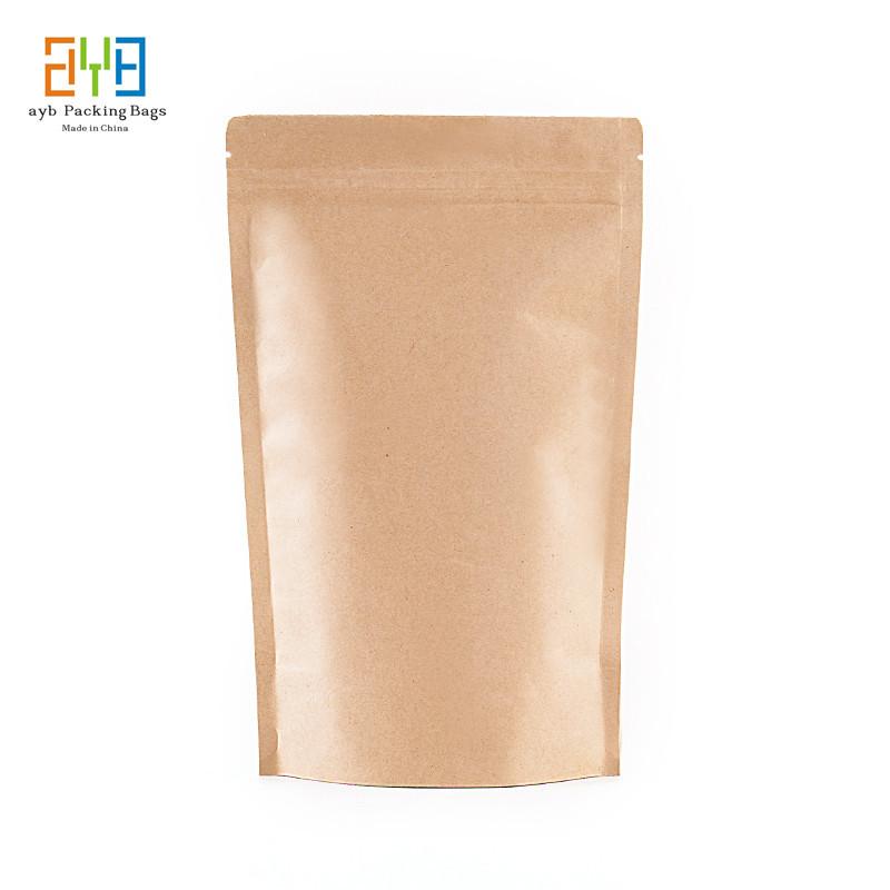 90mm*140mm+60mm Resealable Brown Kraft Paper Bags for Tea Gift Bags Packaging Custom  Logo Bags bolsas de papel(China (Mainland))
