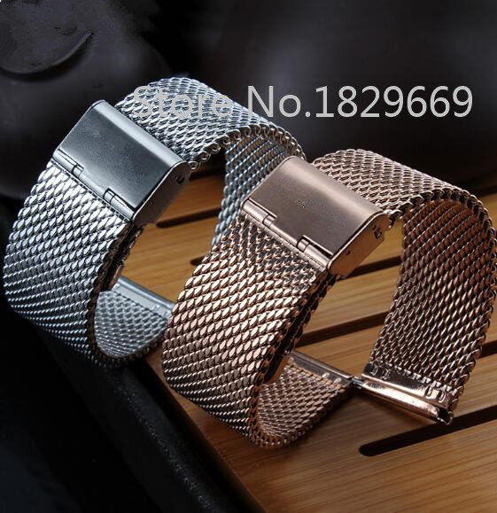 Top Grade Stainless Steel Bracelet Strap Watch Mesh Replacement Band 18mm 20mm 22mm 24mm<br><br>Aliexpress