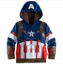 The Avengers spring cotton superman fashion vestidos hooded baby girls bosy clothes Outwear kids clothes boys