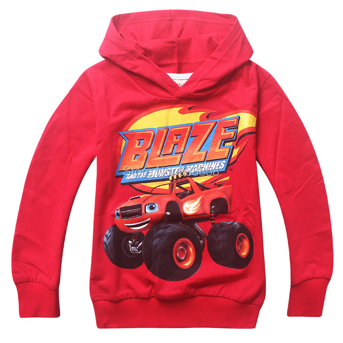 2 to 7years old Blaze Monster Machines cartoon children kids boys t shirt cotton baby kids t shirt clothes for new boys clothing(China (Mainland))