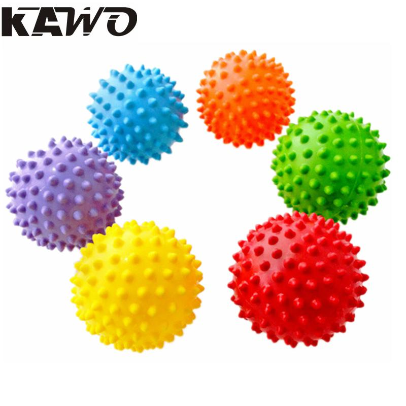 7cm Yoga Ball Fitness Pilates Balance Exercise Fit Yoga Ball Training Massage Ball PVC Trigger Point Therapy Stress Relief(China (Mainland))