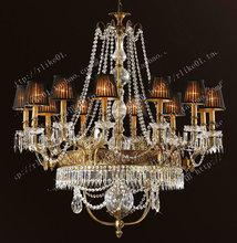 American K9 crystal chandelier vintage light copper lamp home lighting vintage antique lighting crystal hanging lights lustre(China (Mainland))