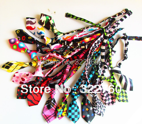 120 pcs a lot fashion dog pet cat bow tie necktie collar Free shipping(China (Mainland))