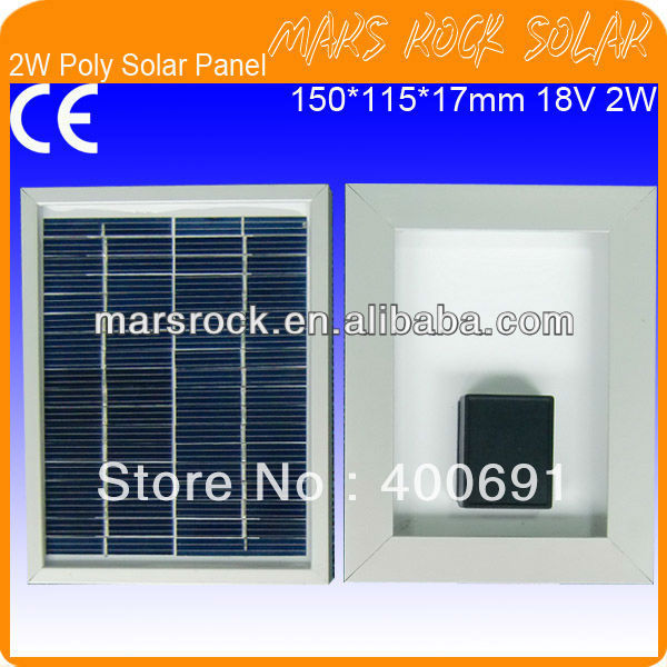 2W 18V Polycrystalline Solar Panel with Aluminum Alloy Frame, Long Lifecycle, High Efficiency, Beautiful Appearance, Good Price(China (Mainland))
