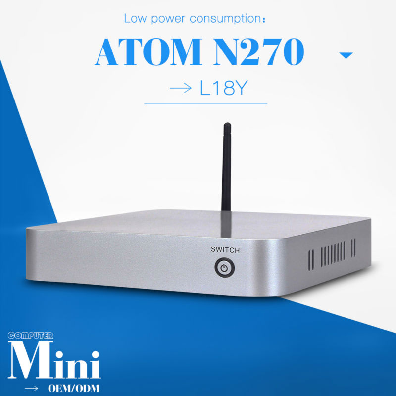 Intel atom N270 Fanless mini pcs desktop computer networking N270 motherboard support video film can optional HDD/RAM(China (Mainland))