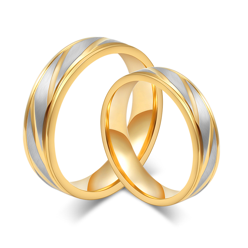 Aliexpresscom buy fashion men wedding rings 18k gold for Wedding gold rings for men