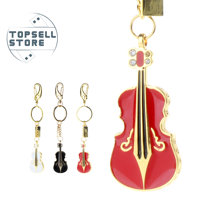 new promotion pendrive musical instrument violin metal usb flash drive 32gb memory stick pen drive 8gb 16gb fashion gift u disk(China (Mainland))