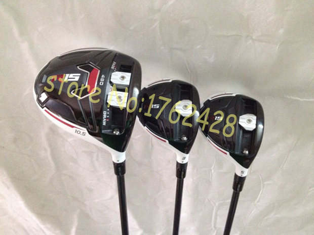 New R15 golf driver + R15 fairway wood 3# 5# speeder graphite shaft right hand 3pcs/set R15 driver woods include headcover(China (Mainland))