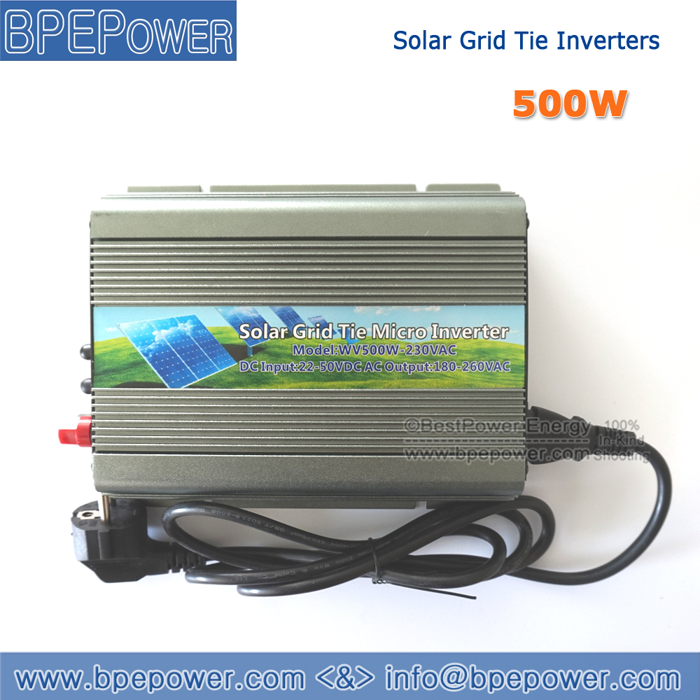 500W Solar Micro Grid Tie Inverter DC22~50V to AC90~140V On Grid Inverter Pure Sine Wave for 500~600W 24V 36V Solar Panel(China (Mainland))